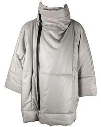 132 5. Issey Miyake Flat Puff Jacket - Grey