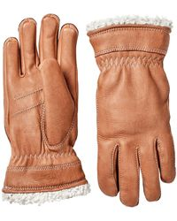 Hestra Ladies Deerskin Primaloft Gloves - Brown