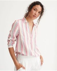Nrby Chrissie Linen Stripe Shirt - Pink