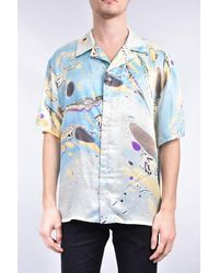 ih nom uh nit Shirt Whit Marblong Effect All Over - Blue
