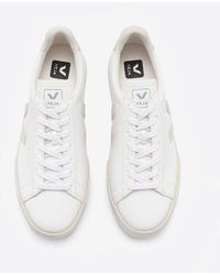 Veja Campo Leather | White Natural | (men)