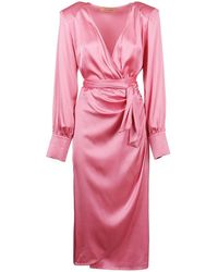ANDAMANE Women's Q02a053rscc Pink Viscose Dress