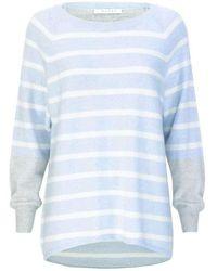Duffy Striped Knit - Blue