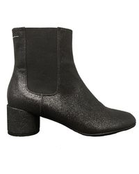 MM6 by Maison Martin Margiela Ankle Boot - Black