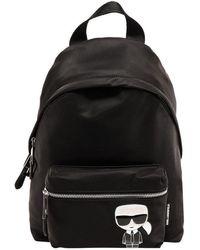 Karl Lagerfeld K/ikonik Logo Backpack - Black