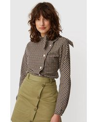 WOOD WOOD Veronika Navy Check Blouse - Multicolour