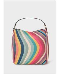 Paul Smith Mini Hobo Bag Swirl - Multicolour