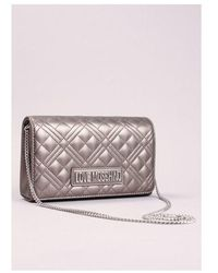 Love Moschino Quilted Small Bag Colour: Silver - Metallic