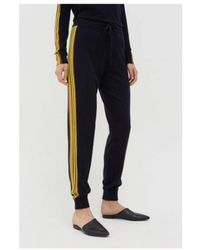Chinti & Parker Navy Fluorescent Stripe Wool-cashmere Track Trousers - Blue