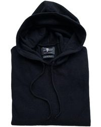 7 For All Mankind Seven For All Mankind Cashmere Hooded Sweater - Black