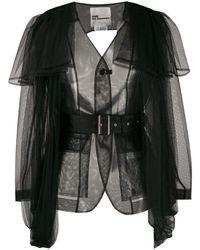 Noir Kei Ninomiya Women's 3dj0280511 Black Polyester Jacket
