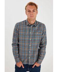 Blend Ambitious Slim Fit Check Shirt - Blue