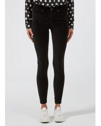 Donna Ida Rizzo High Top Ankle Skinny Jeans - Noir Velvet - Black