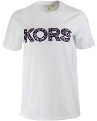 Michael Kors Floral Kors T-shirt - White