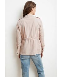Velvet By Graham & Spencer Velvet By Graham & Spencer Ruby Army Jacket In Ballet - Natural
