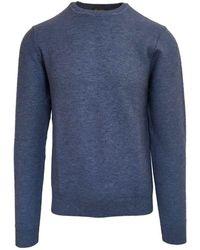 Stenströms Blue Crew Neck Sweater 140 - Black