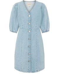 Pieces Gili Denim Dress , Title:ltdenim - Blue