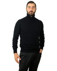 Cruciani Knit Turtleneck Blue Sizes 48