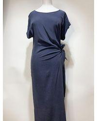 Toupy Victor Dress Navy - Blue