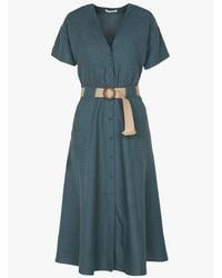 Sessun Sessun Cala Rafia Dress In Indian Teal - Green