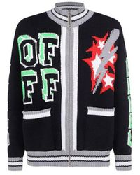 Off-White c/o Virgil Abloh Men's Omha107r21kni0011084 Black Other Materials Cardigan