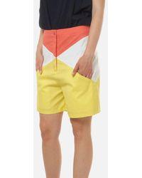 LES BOURDELLES DES GARÇONS Colorful Shorts With Pockets Details - White