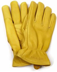 Red Wing 95237 Lined Buckskin Leather Gloves - Yellow