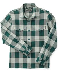 Filson Deer Island Jac-shirt Forest Heather Green