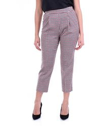 Phisique Du Role Color Chino Pants With Checked Pattern - Multicolor