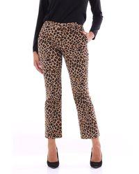 PT Torino Trousers Chino Women Leopard Print - Brown