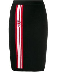 Gcds Women's Cc94w03022202 Black Acrylic Skirt