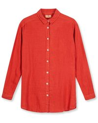 Burrows and Hare Burrows & Hare 's Linen Shirt - Rust - Red