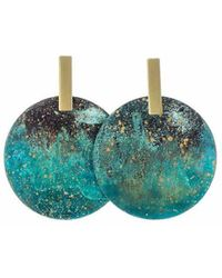Sibilia Monocycle Forest Earrings - Blue