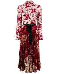 RED Valentino Women's Sr0vai204k1a03 Burgundy Silk Dress - Red
