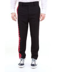 Haider Ackermann Pants With Side Checkerboard Pattern - Black