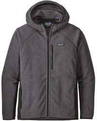 Patagonia - Performance Better Sweater Hoody Forge Grey - Lyst