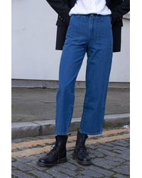 Lee Jeans Wide Leg Military Jeans - Blue