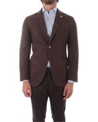 Luigi Bianchi Mantova Men's 5147288705 Brown Wool Blazer
