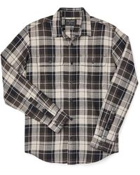 Filson Scout Shirt Olive Black Tan Plaid