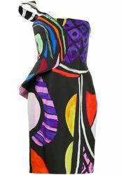 Moschino Women's J041004561888 Multicolor Viscose Dress - Blue