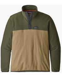 Patagonia Jersey Micro D Snap-t Fleece - Classic Tan - Green