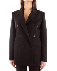 Mauro Grifoni Women's Gi23400633black Black Wool Blazer