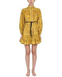 Zimmermann - Women's 9607dlluyepr Yellow Other Materials Dress - Lyst