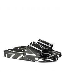 Valentino Valentino Garavani Logo Slides - Black