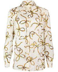 Moschino Boutique Bridle Print Blouse - White