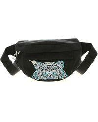 KENZO Kampus Canvas Mini Belt Bag - Black
