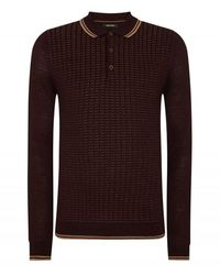 Remus Uomo Uomo Spotted Long Sleeve Knitted Colour: , Size - Purple