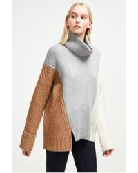 French Connection - Viola Knit High Neck Jumper - Lyst