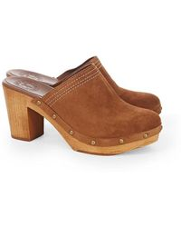 Penelope Chilvers - Suede Mid Clog - Lyst