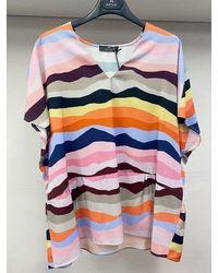Paul Smith Swirl Print Top W2r-260m-e30648 - Multicolour